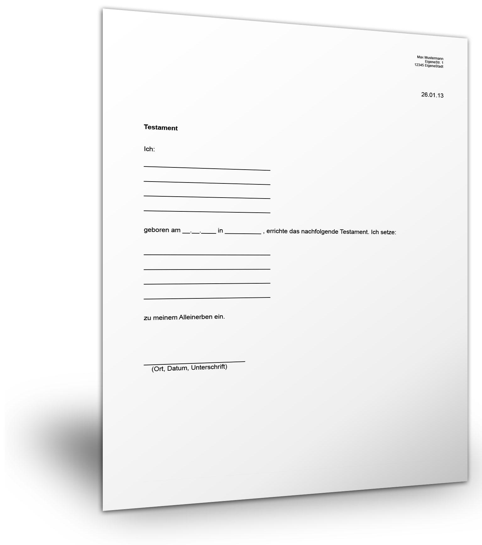 testamentvorlagecom